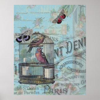 Collage de Shabbychic París subió Posters