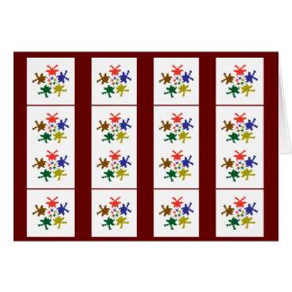 Collage decorativo de la danza feliz - añada el tarjeta de felicitación