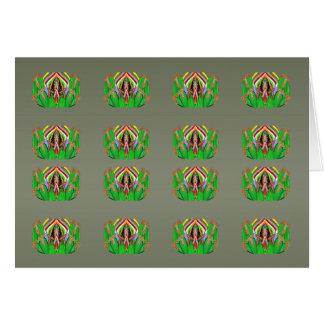 Collage decorativo de la flor del cactus - añada tarjeta de felicitación