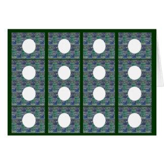 Collage decorativo de la luna - añada su texto, tarjeta de felicitación