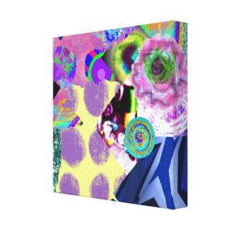 Collage del arte abstracto lona envuelta para galerias