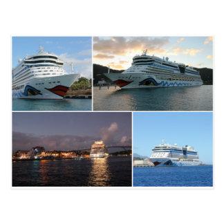 Collage del barco de cruceros de AIDAluna Postal