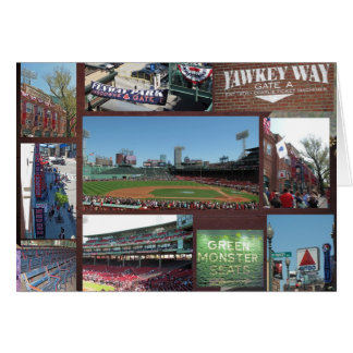 Collage del béisbol tarjeta