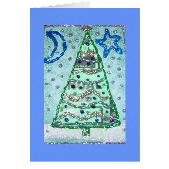 Collage del brillo del paso del bosque del tarjeta de felicitación