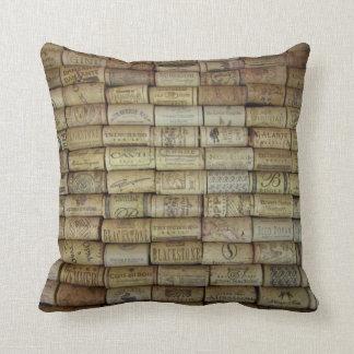 Collage del corcho del vino almohadas