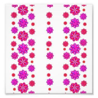 Collage del estampado de flores de las rayas foto