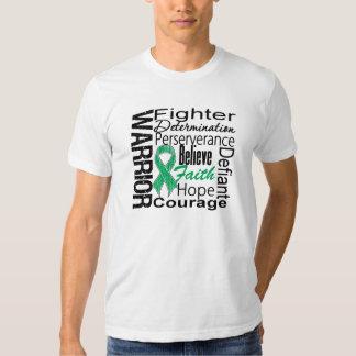 Collage del guerrero del cáncer de hígado camiseta