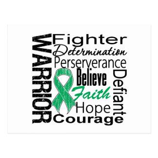 Collage del guerrero del cáncer de hígado postal