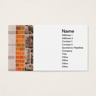 collage del ladrillo o de la piedra tarjeta de negocios