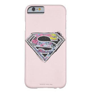 Collage del logotipo de Supergirl Funda Para iPhone 6 Barely There