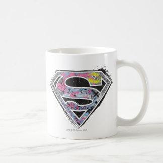 Collage del logotipo de Supergirl Taza Clásica