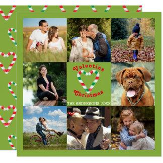 Collage del navidad de la tarjeta del día de San