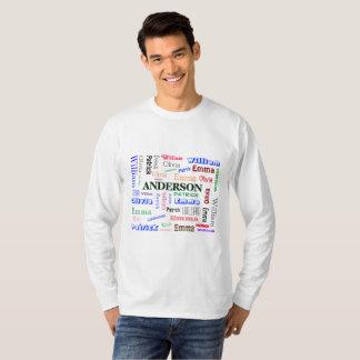 Collage del nombre de la nube de la palabra del camiseta