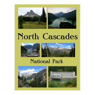 Collage del norte 1 de las cascadas postal