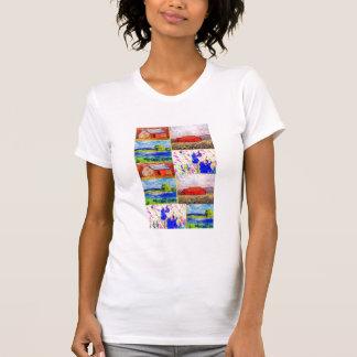 collage del paisaje del wildflower camisetas