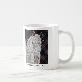 Collage del personalizado del caballo del taza de café