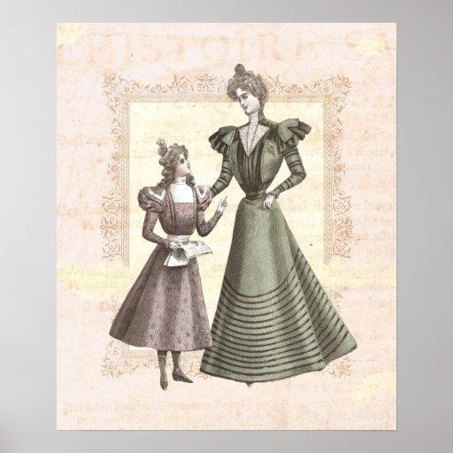 Collage del vintage de la madre y del niño del Vic Posters