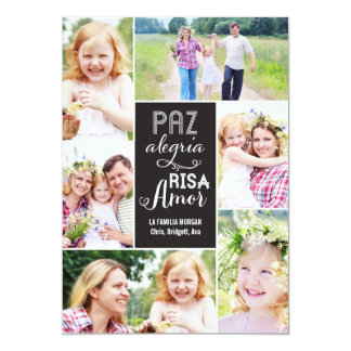 Collage desea día de tarjeta con foto invitación 12,7 x 17,8 cm