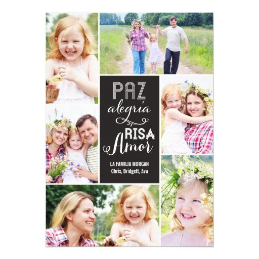 Collage desea día de tarjeta con foto invitacion personal
