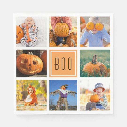 Collage moderno de la foto de Halloween del Servilleta De Papel