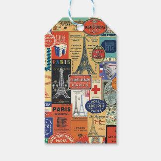Collage Paris Etiquetas Para Regalos