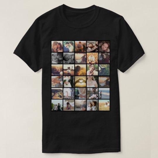 Collage personalizado de la foto del instagram camiseta
