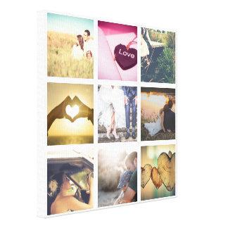 Collage personalizado de moda de la foto lienzo
