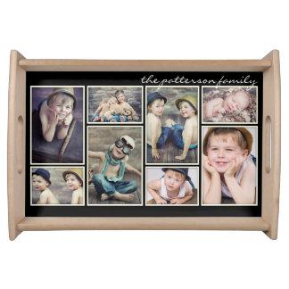 Collage personalizado enmarcado marfil de la foto bandejas