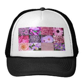 Collage púrpura/rosado de la foto gorra