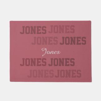 Collage rosado corto de Lastname de la tipografía