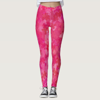 Collage rosado rojo del rompecabezas de la leggings