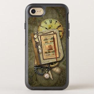 Collage sucio de Steampunk del viaje del vintage Funda OtterBox Symmetry Para iPhone 8/7