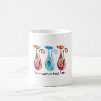 Collage texturizado personalizado fresco de taza de café