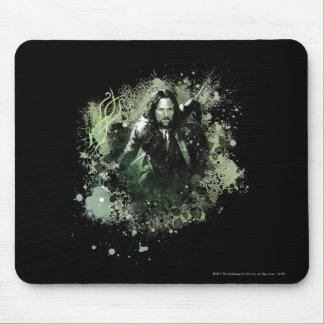 Collage verdoso del vector de Aragorn Alfombrilla De Ratón