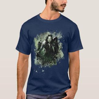 Collage verdoso del vector de Aragorn Camiseta