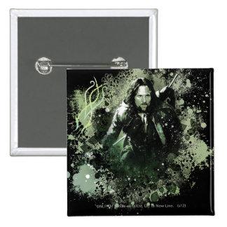 Collage verdoso del vector de Aragorn Pins