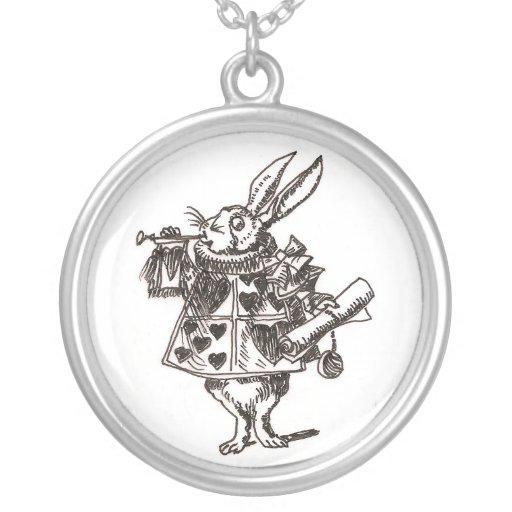 Collar blanco del bosquejo del conejo