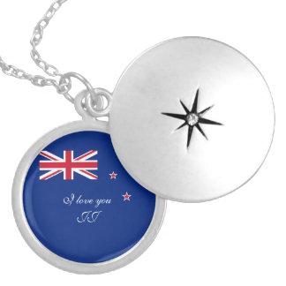 Collar Con Colgante Bandera de Nueva Zelanda