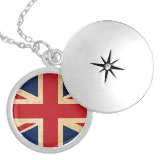 Collar Con Colgante Bandera vieja Union Jack de Reino Unido del Grunge