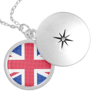 Collar Con Colgante Diseño original Union Jack del punto de cruz