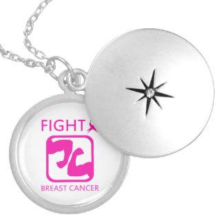 Collar Con Colgante Doblar los brazos para luchar el cáncer de pecho