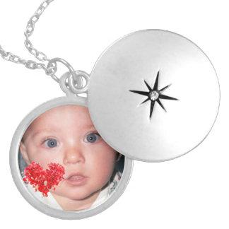 Collar Con Colgante Locket de encargo de la foto con diseño rojo del