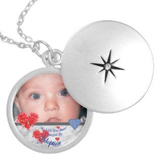 Collar Con Colgante Locket de la foto de la adopción