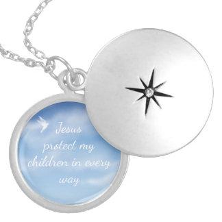 Collar Con Colgante Rezo de la protección para sus niños divinamente