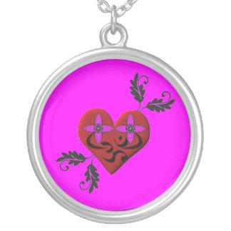 Collar con símbolo de OM - joyería del corazón de