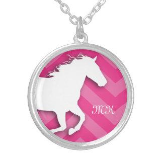 Collar de Chevron del caballo del monograma para e