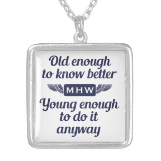 """Collar de encargo """"viejo y joven"""" del monograma"""