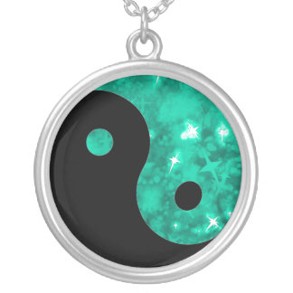 Collar de la chispa del jade de Yin yang