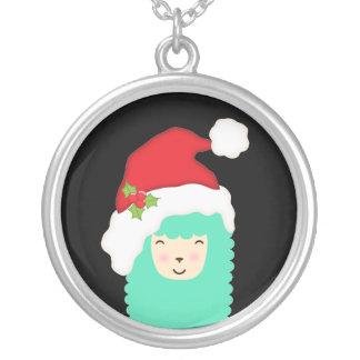 Collar de la llama de Emoji de las Felices Navidad