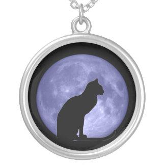 Collar de la luna azul del gato negro